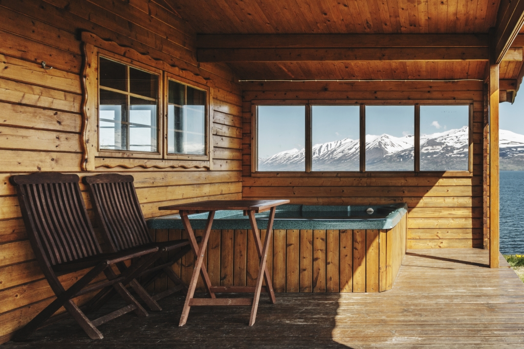 Sel cabin with hot tub in the north of Iceland
