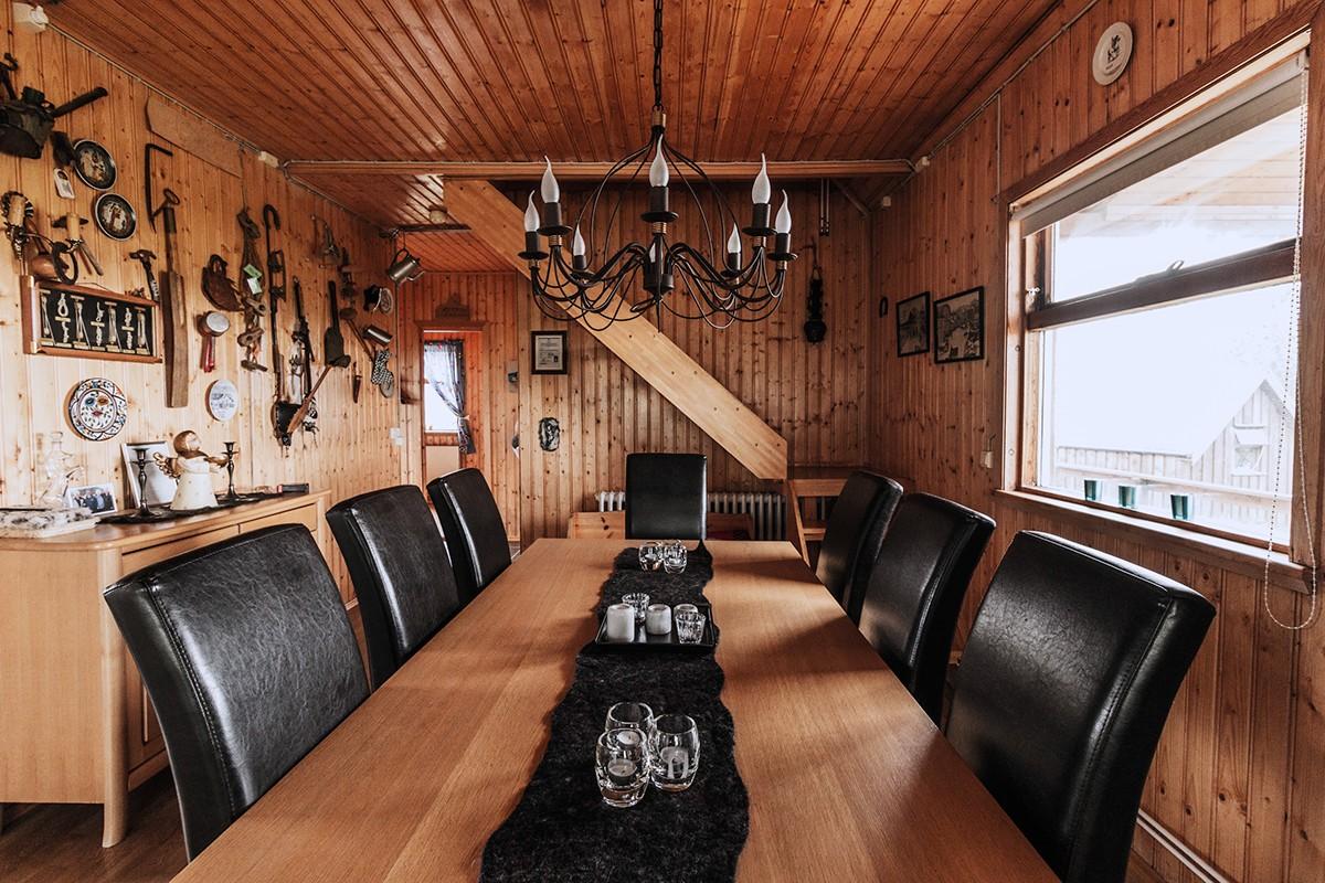 Inside cabin Iceland