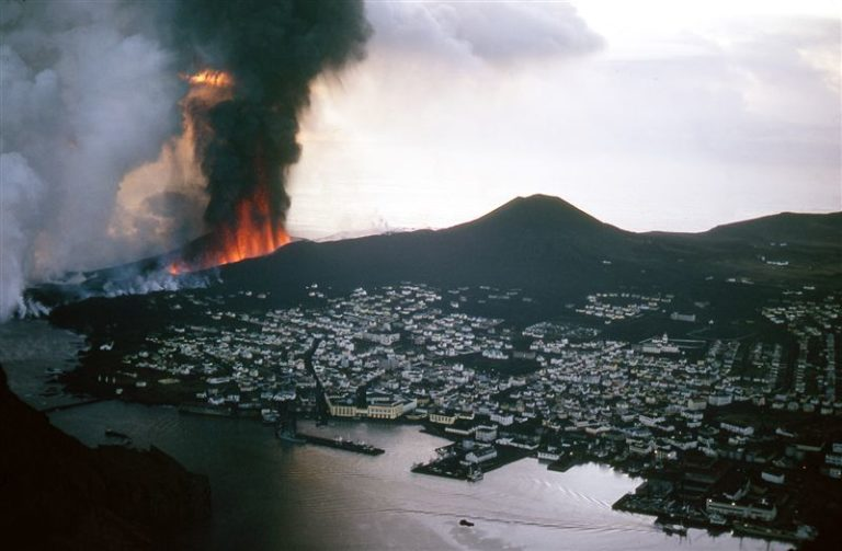 The eruption in Westman Islands