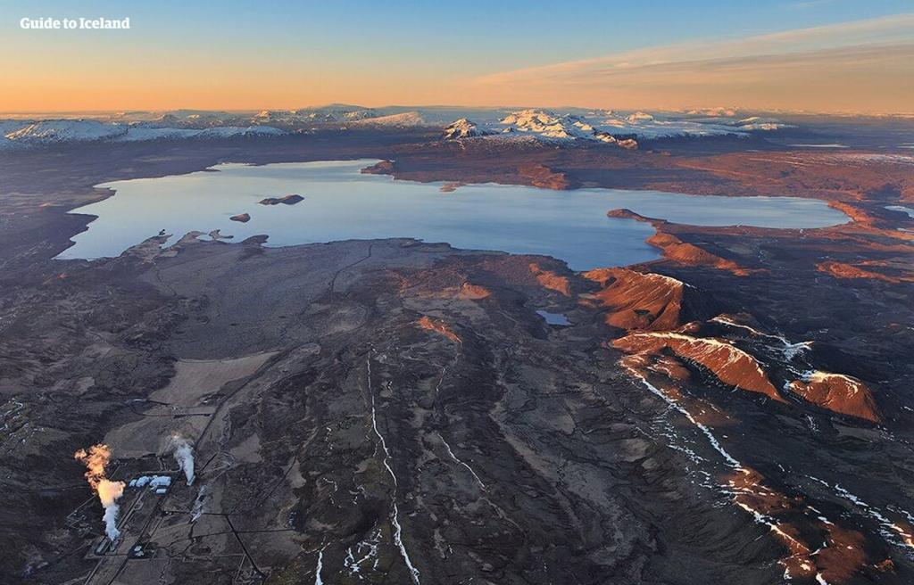 Þingvallavatn lake in Iceland.
